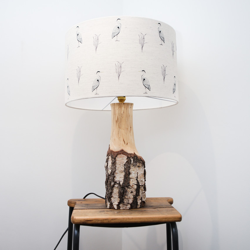 Lampshade: Made by Christine.