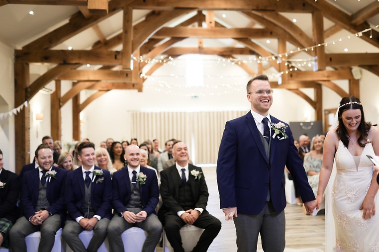 During their vows, at The Gamekeepers Inn, Grassingtion