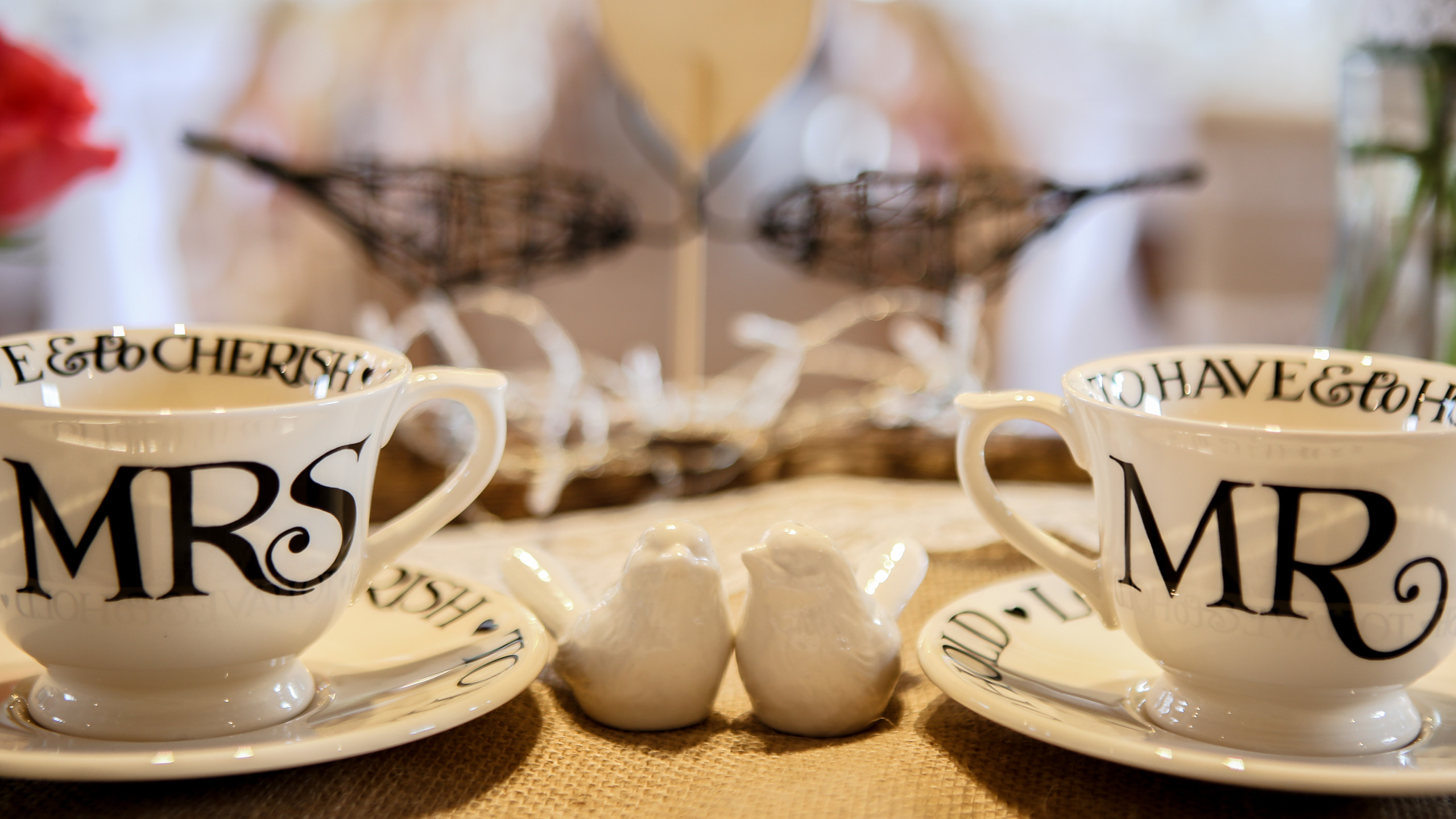Mrs and Mrs Emma Bridgewater teacups