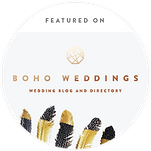 Boho Weddings featured on badge 300x300.