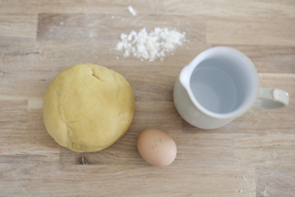 Dough and the ingredients