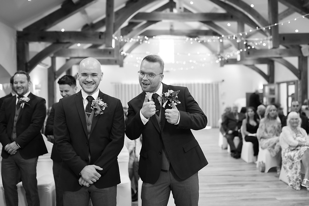 Groom AND his best man.