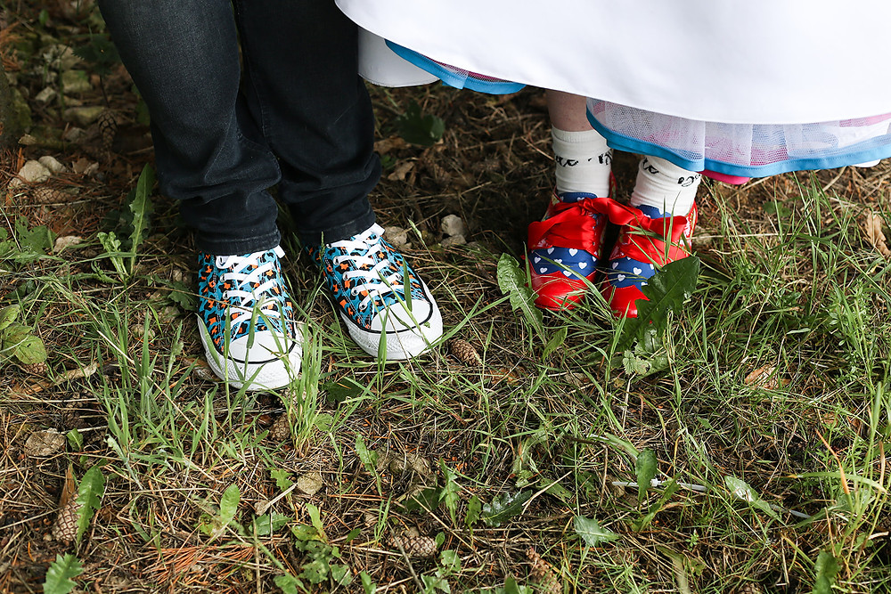 Bride and Groom Shoes.