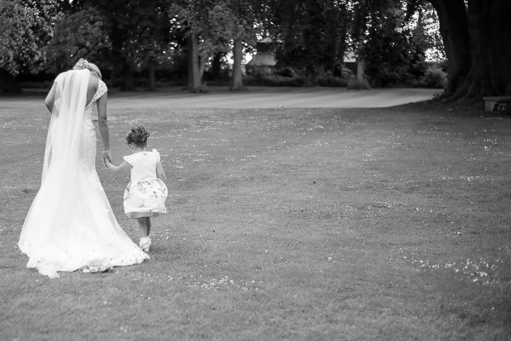 The bride and her niece.