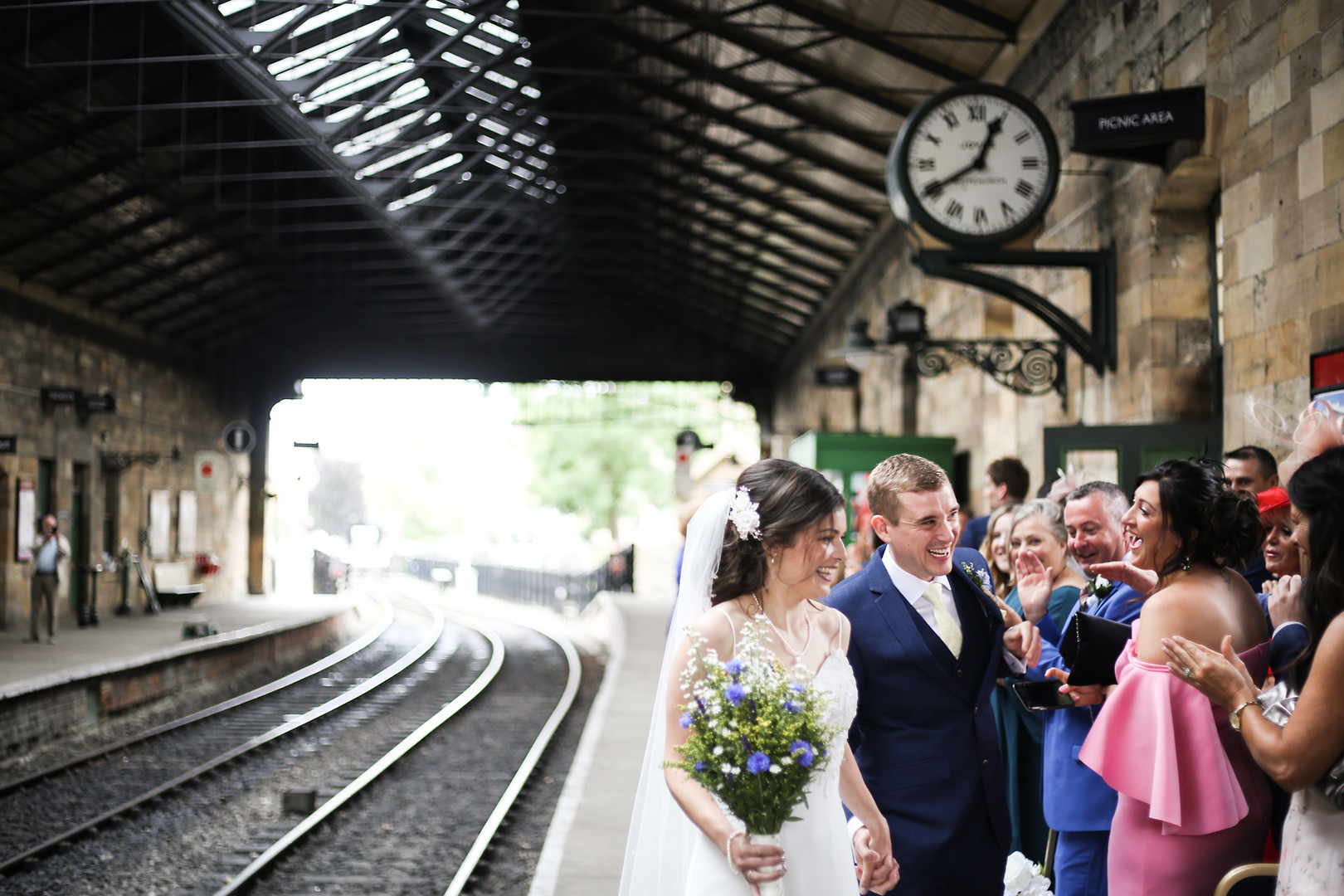 Railway Station Wedding at Pickering