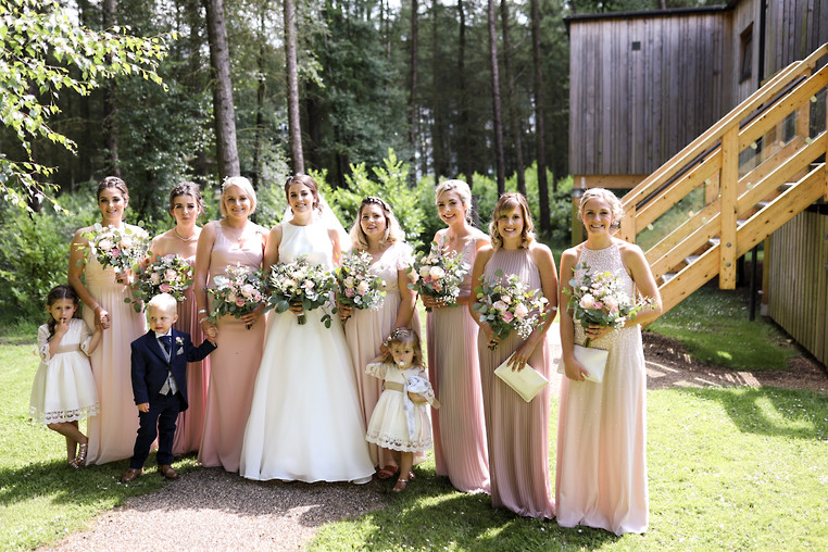 Bridal Party all ready to leave from Gillamoore Church