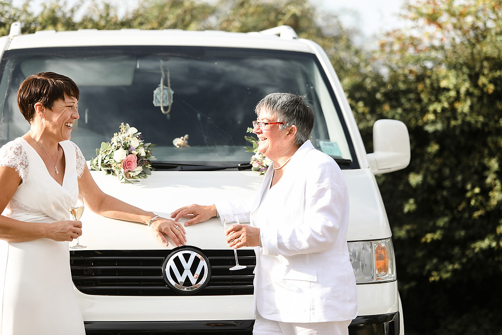 This is Clairwyn's 2nd favourite thing, so they had to have photos with the VW camper