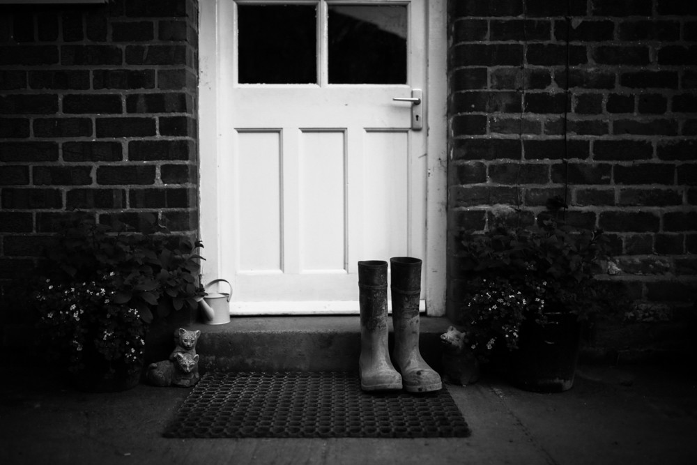 Day 1 Wellies at the backdoor.