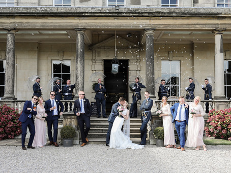 Charlotte and David's Military Wedding at Birdsall House, North Yorkshire.