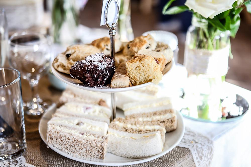 Afternoon tea, wedding food, alternative food, delicious