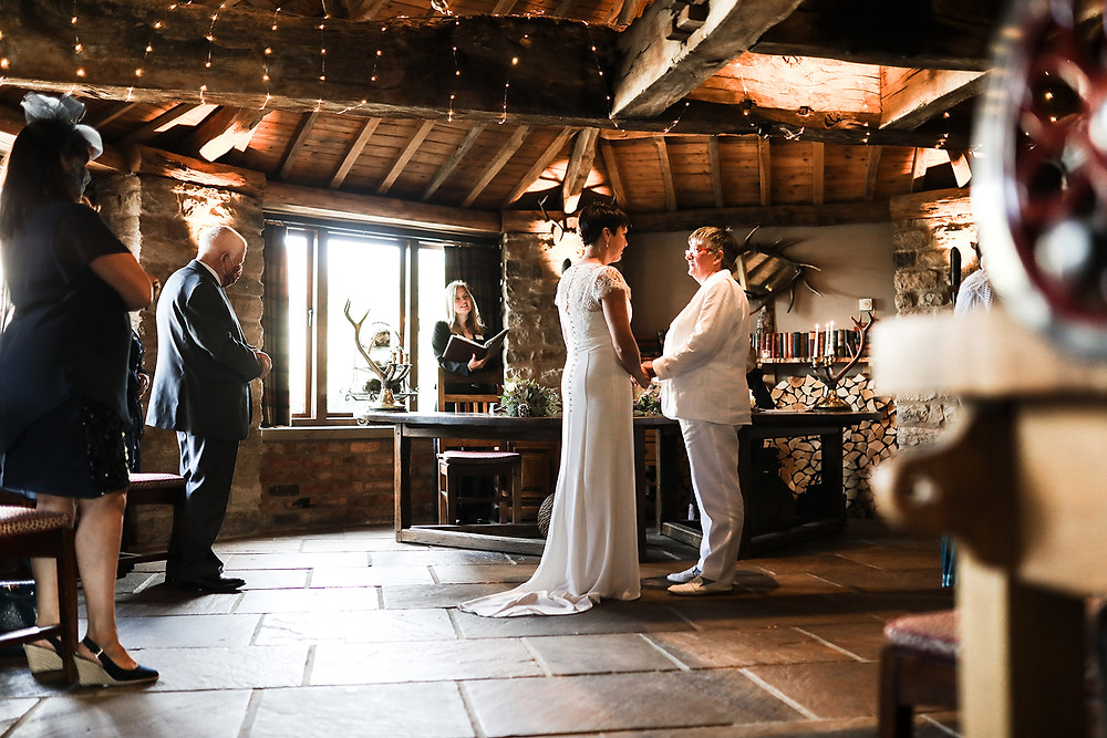 Saying the vows to each other