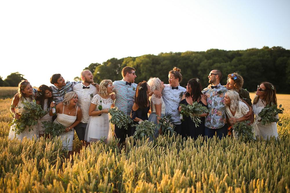 A fun bridal party snap.