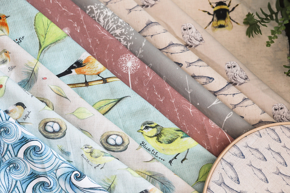 Christine has drawn and designed all of these fabrics herself, she's inspired very much by nature and is clearly very talented. We have enjoyed photographing her fabrics over the last few weeks, as she's excitingly going to be designing a brochure for her pop-up stall in York's John Lewis!! Go Christine.