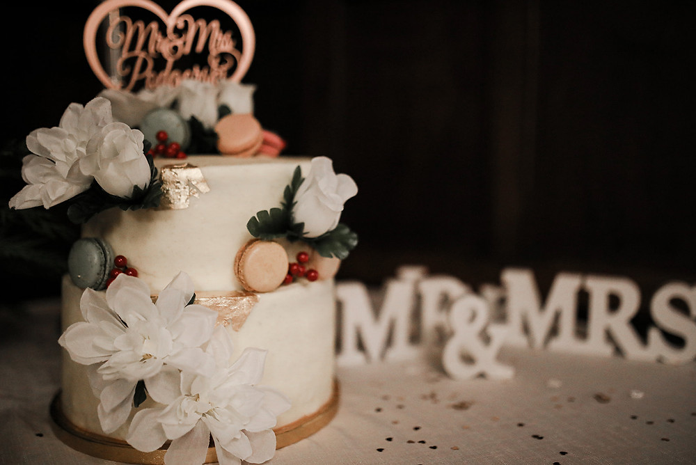 The cake, made by the Brides friend