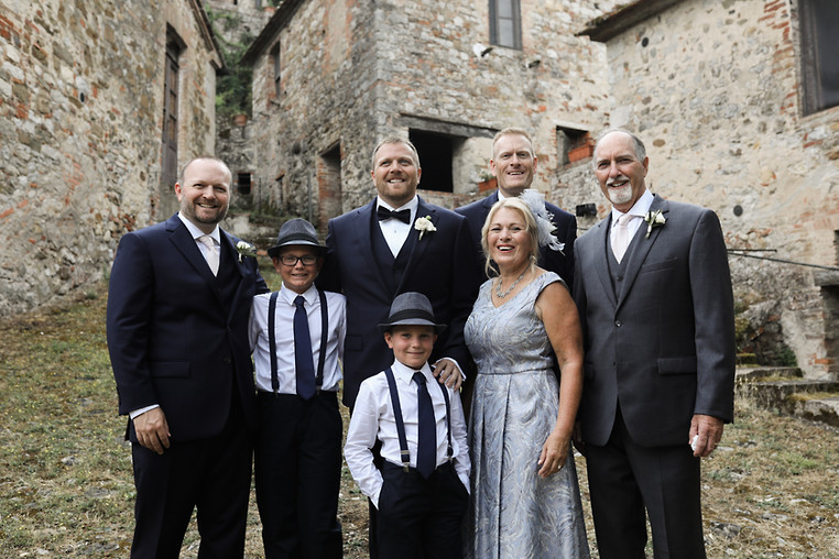 His side of the family, in tuscany, Italy