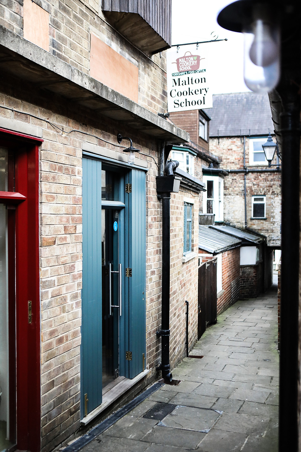 Entrance to the cookery school.