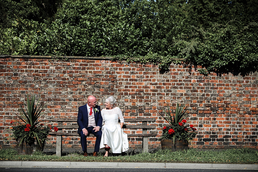 Couple sat on a bench in York