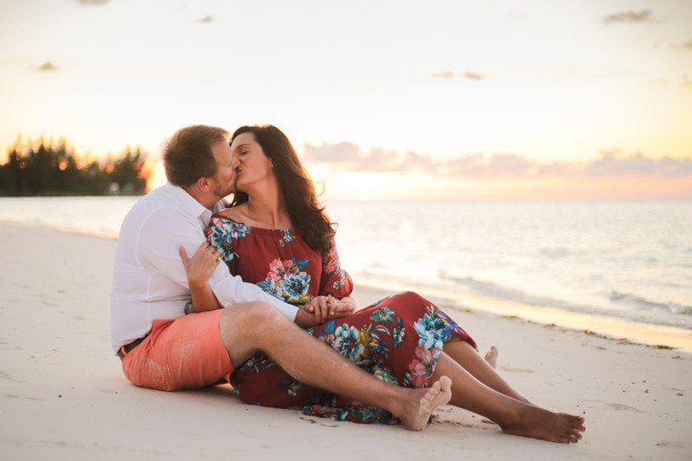Sunset is a great time to go for a engagement session