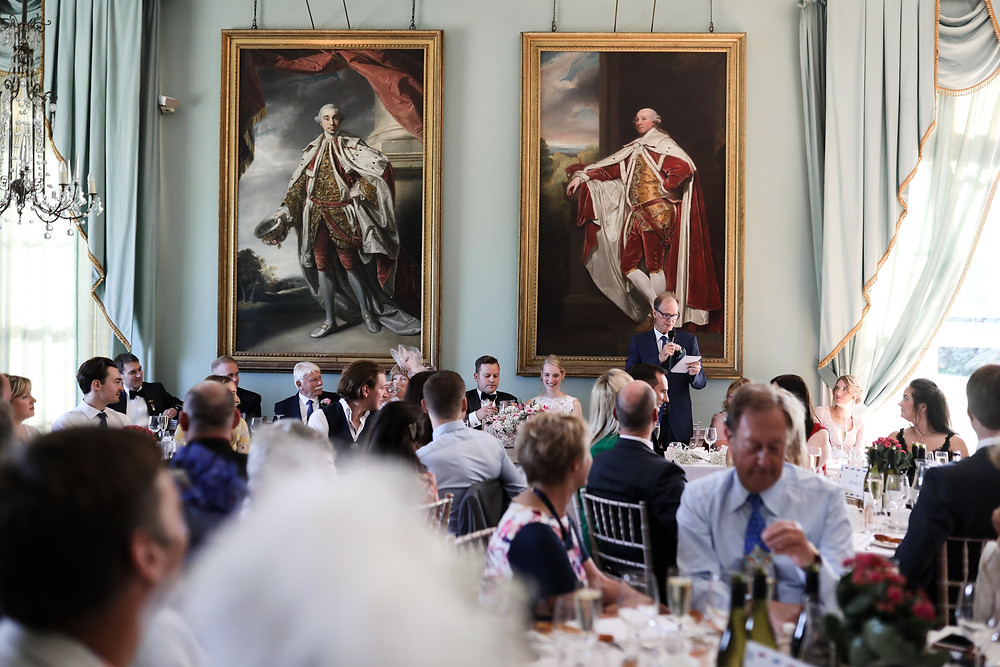 Birdsall House, the top table during the speeches,