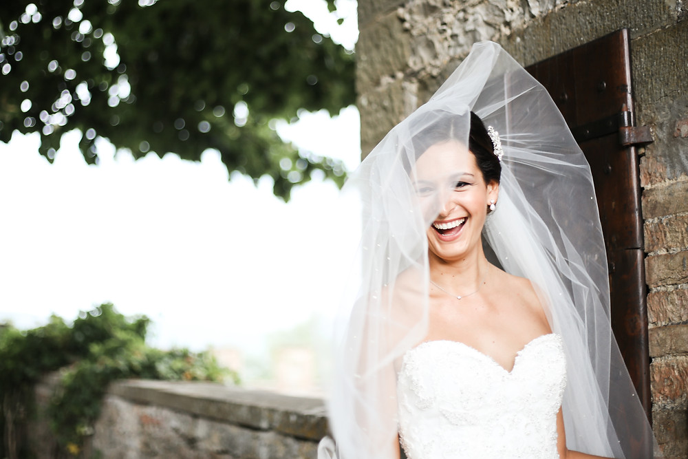 The bride all ready, in Tuscany