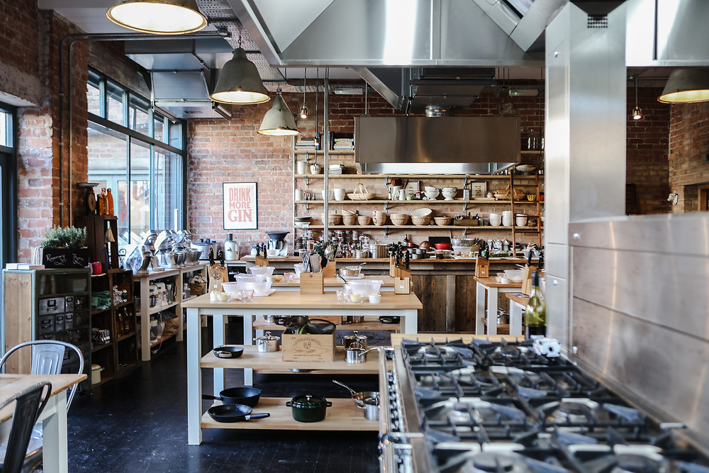 The Cookery School's kitchen