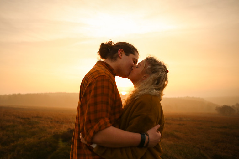 Sunrise kiss, at Dalby Forest