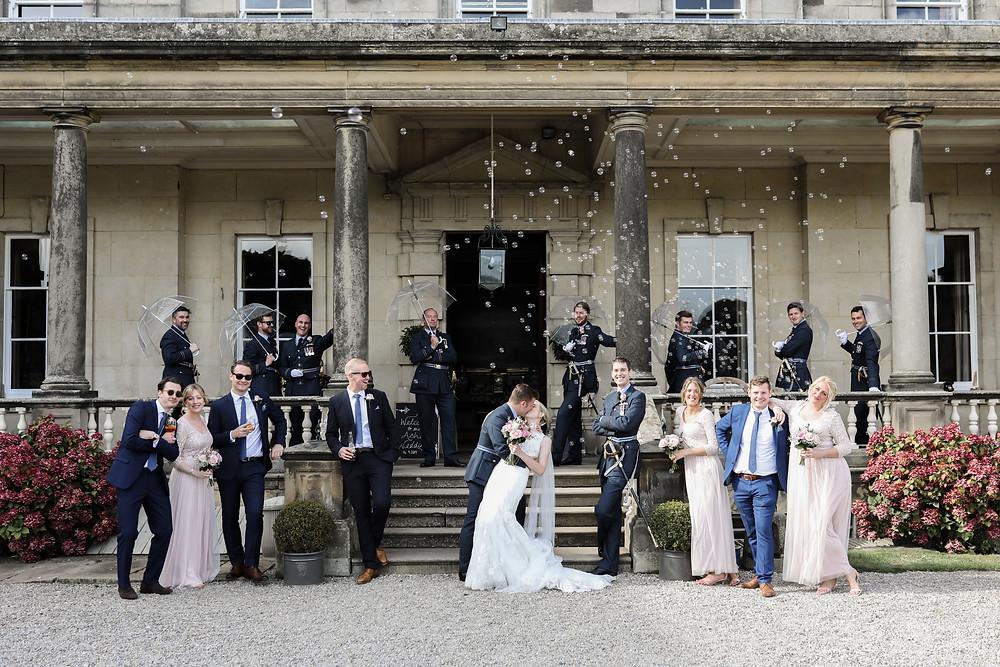 Birdsall House, the bridal party, Malton