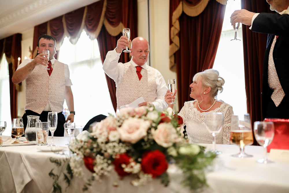 Toasting the bride