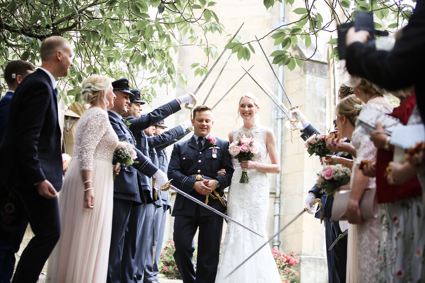 A military wedding, Birsdall Estate