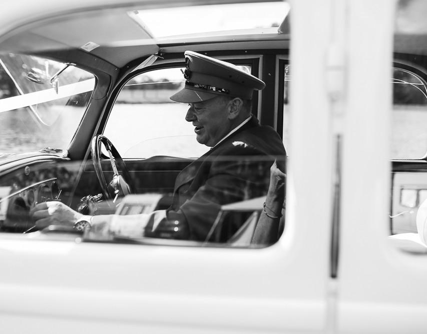 The chauffeur...