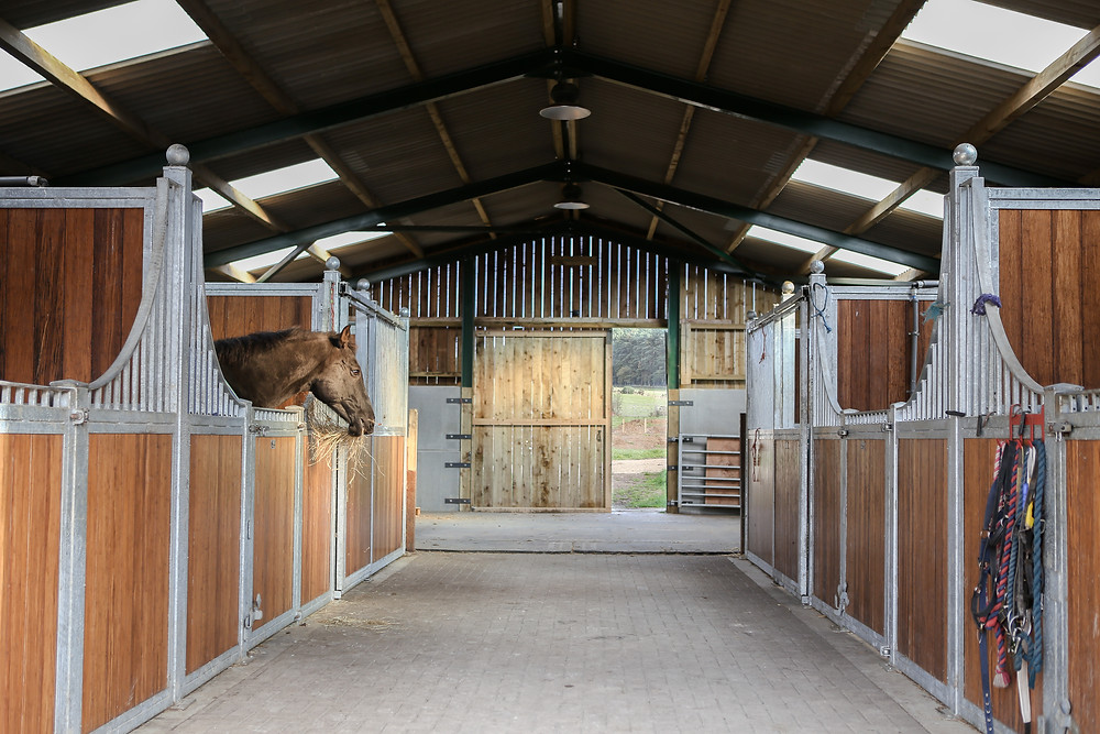 Six stabled barn, to keep your horse or pony cosy whilst you stay.