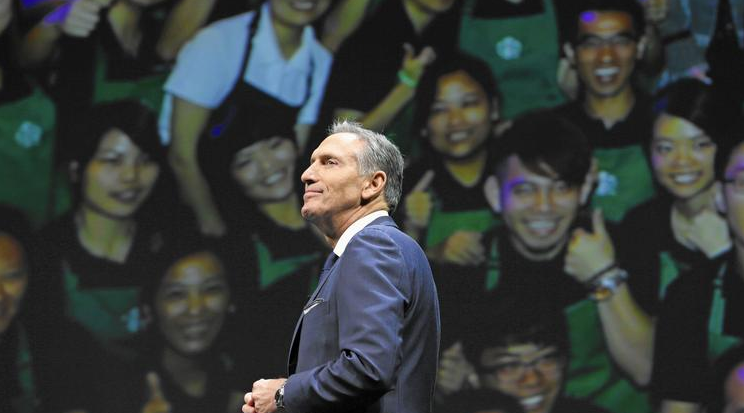 """Starbucks CEO Howard Schultz says the upcoming pay raise is a move to keep the company """"a retail employer of choice."""""""