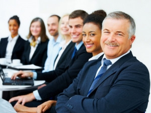 stock image of business meeting