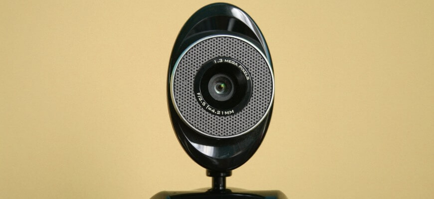 Webcam used for video interviews, source Glide Outplacement