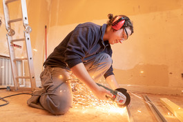 Installation des faux-plafonds, février 2021