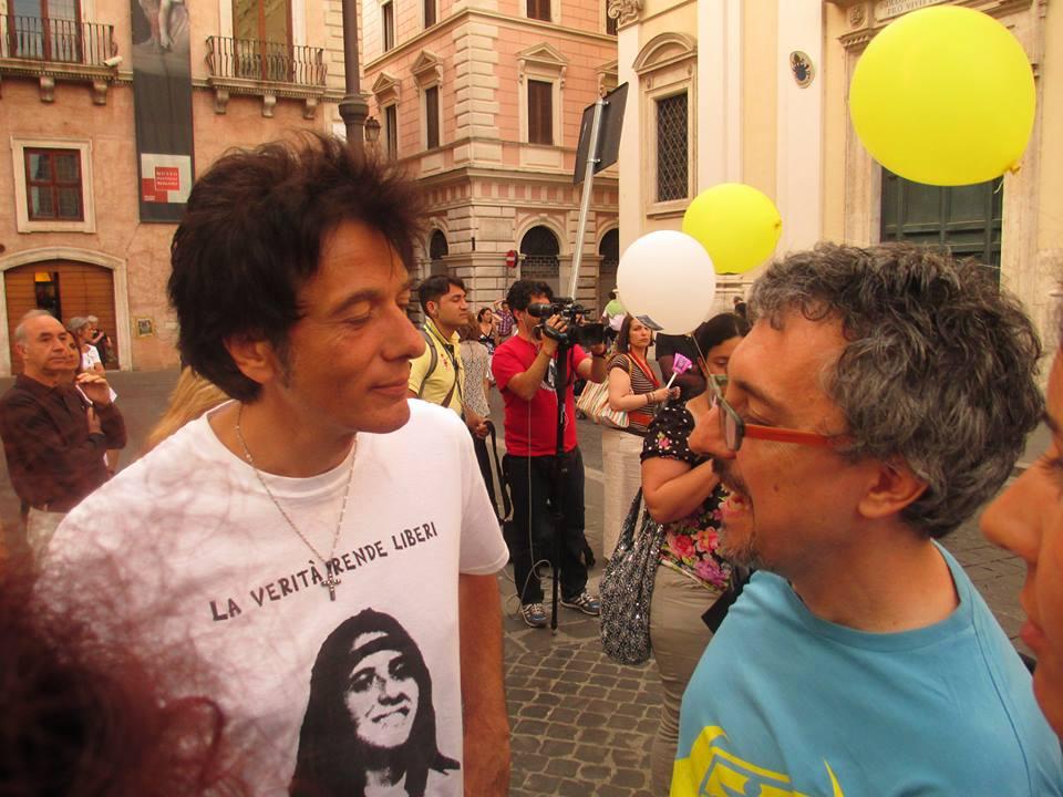 Con Pietro Orlandi