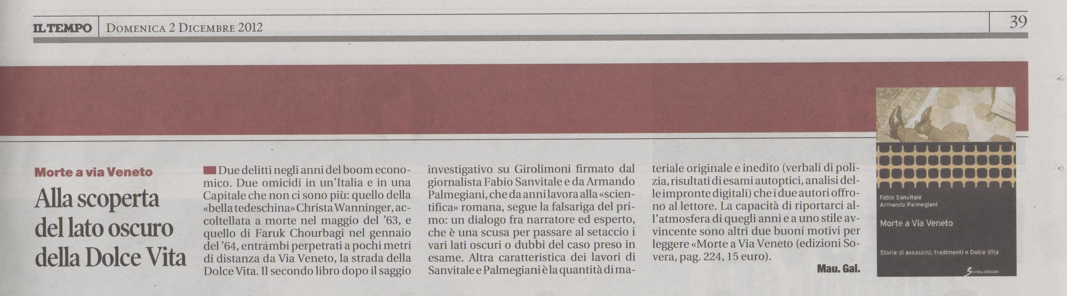 Il Tempo, 2 dicembre 2012