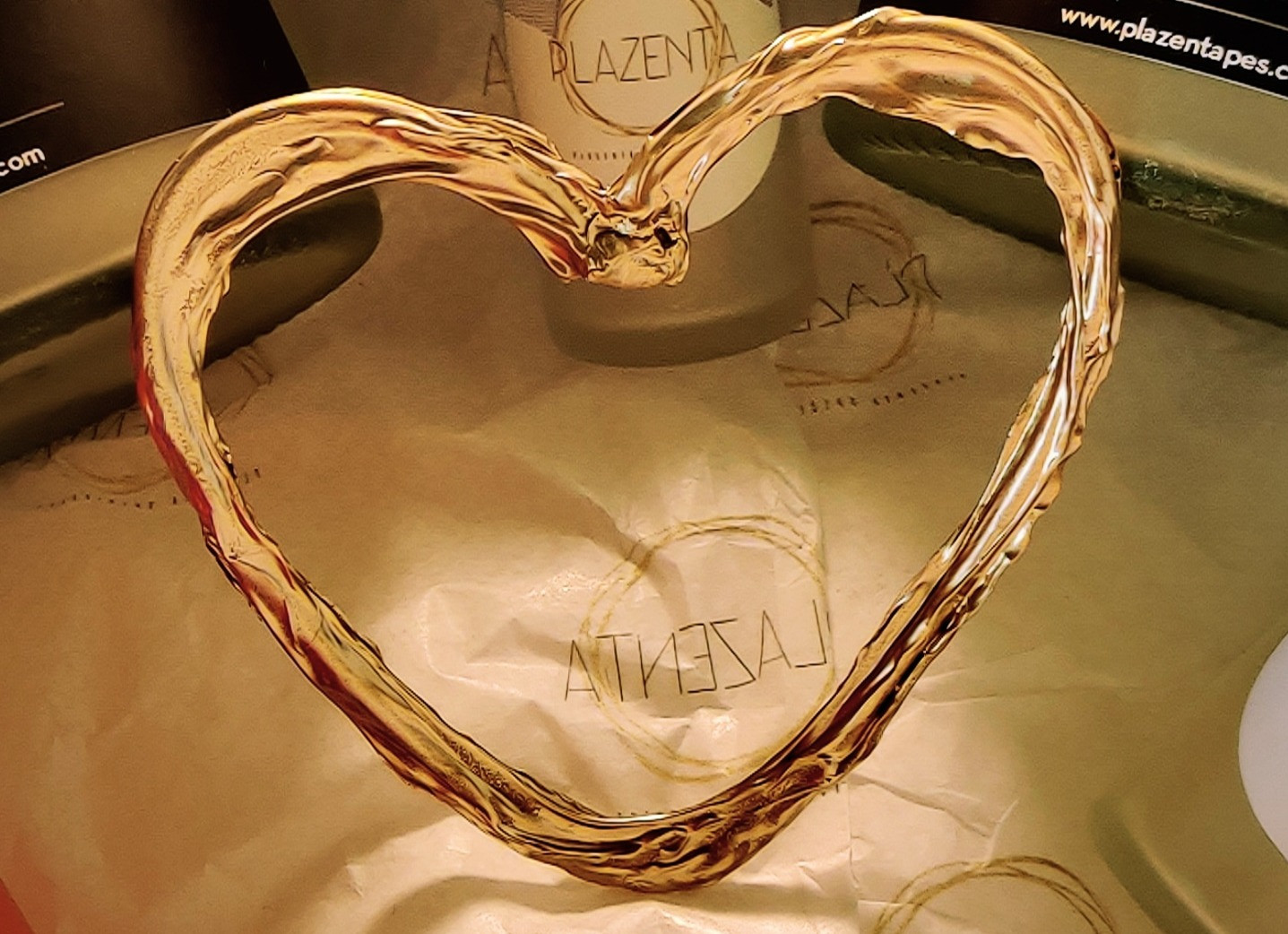 PlaZenta Gold Cord Keepsake