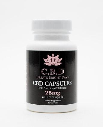 C.B.D capsules 25mg