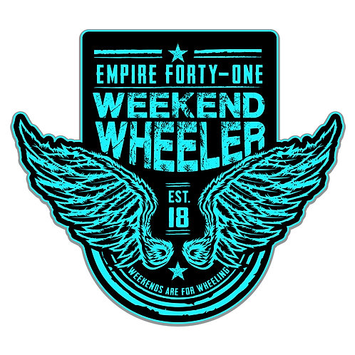 Weekend Wheeler Decal