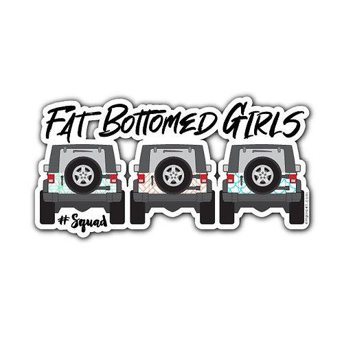Fat Bottomed Girls Decal