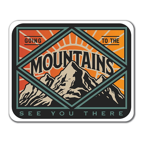 Going to the Mountains Decal