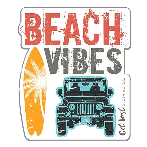 Beach Vibes Decal