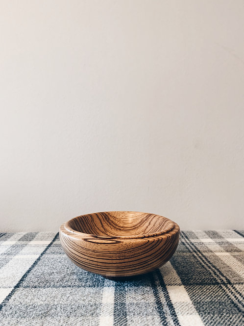 Zebrano Wood Bowl