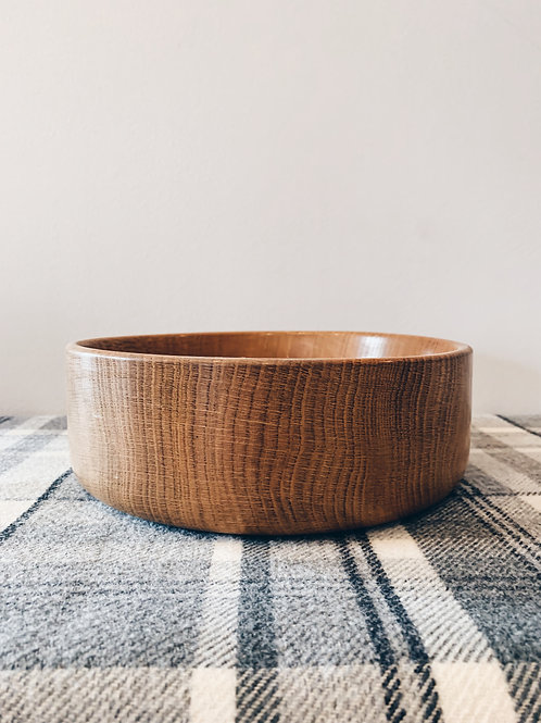 Solid Oak Bowl
