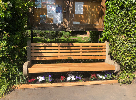 Silver Jubilee bench for VE Day for the villagers of Hessay (North Yorkshire)