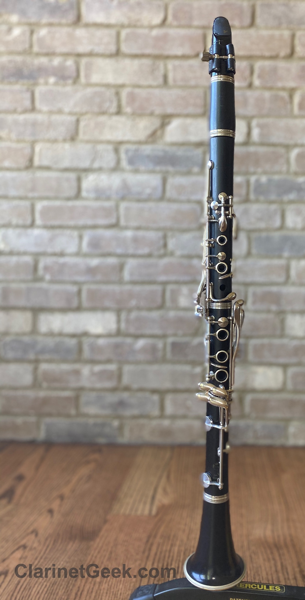 Buffet Clarinet on a Hercules Stand