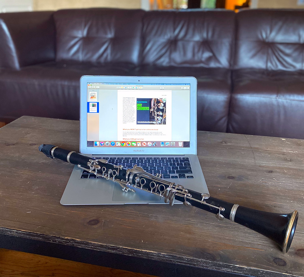 Buffet R13 Clarinet, MacBook Pro