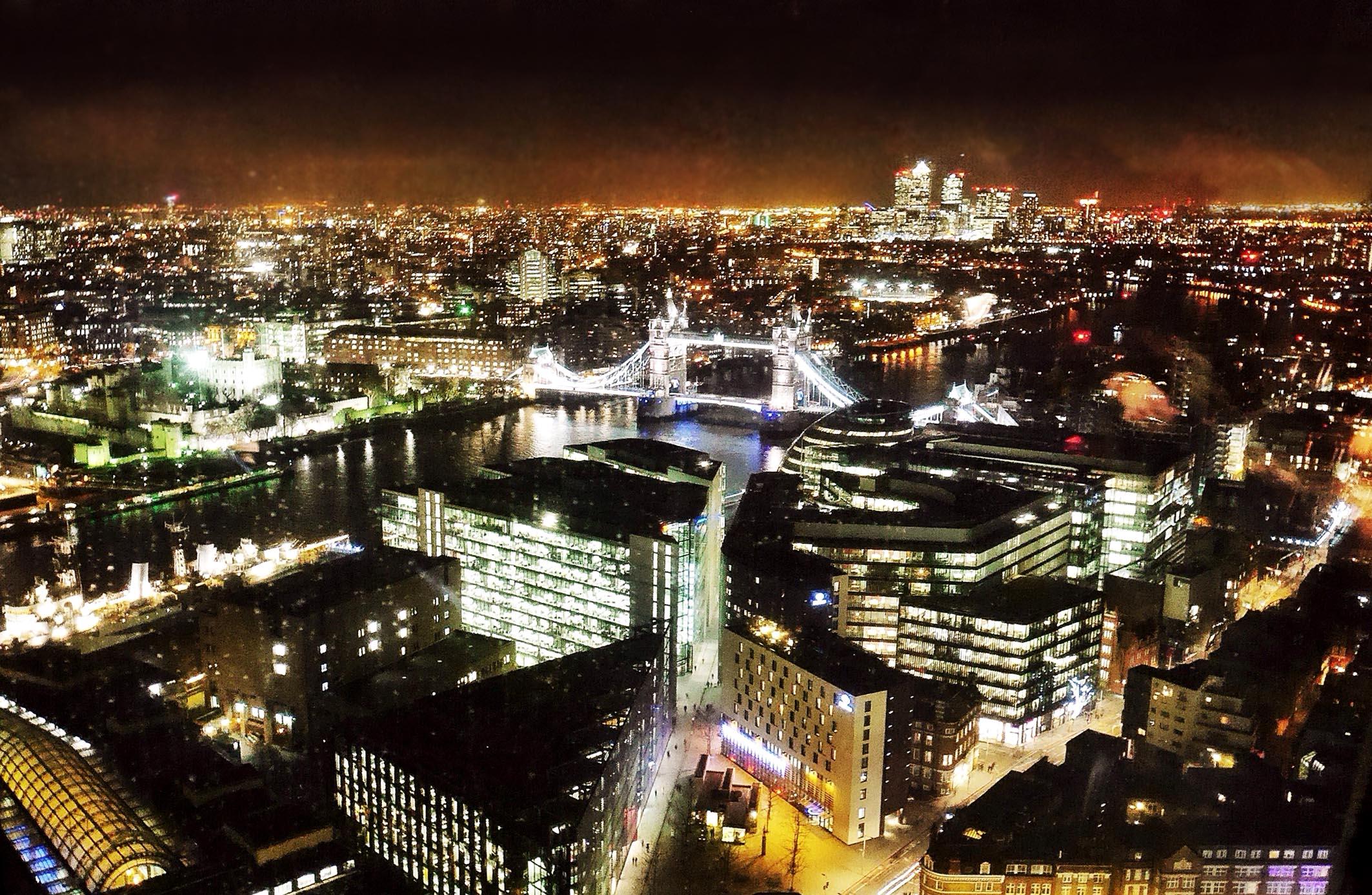 Night scene of London