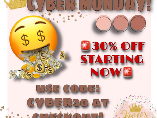 CYBER MONDAY - 30% OFF